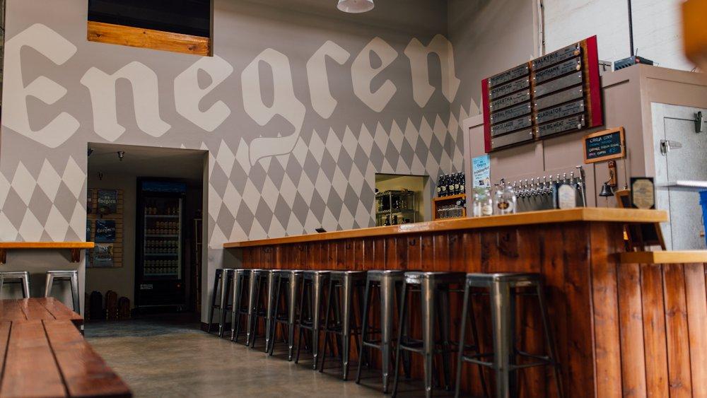 empty enegren tasting room